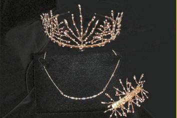 AUTUMN inspired Tiara, Necklace & Hair Slide